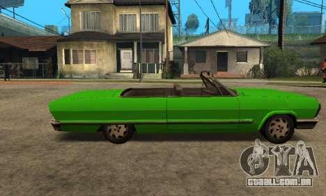 Beta Savanna para GTA San Andreas traseira esquerda vista