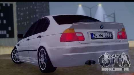 BMW M3 E46 Sedan para GTA San Andreas esquerda vista