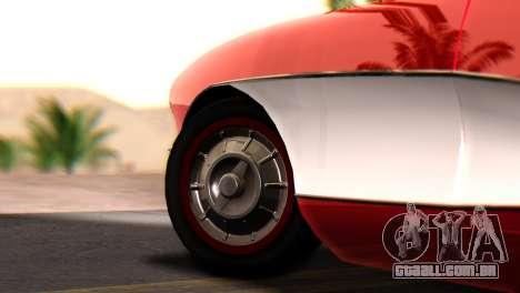 Chevrolet Corvette C1 1962 para GTA San Andreas traseira esquerda vista