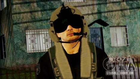 Russian Helicopter Pilot from Battlefield 4 para GTA San Andreas terceira tela