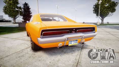 Dodge Charger RT 1969 General Lee para GTA 4 traseira esquerda vista