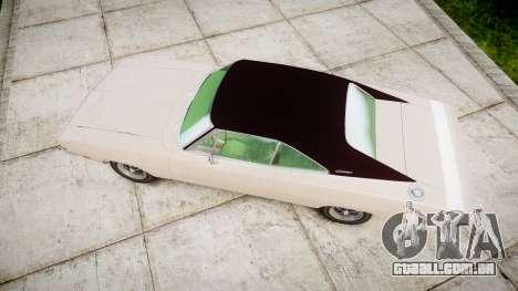 Dodge Charger RT 1969 para GTA 4 vista direita