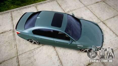 BMW M5 E60 v2.0 Stock rims para GTA 4 vista direita