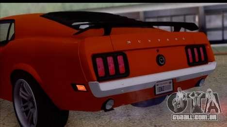 Ford Mustang Boss 429 1970 para GTA San Andreas vista direita