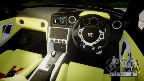 Nissan GT-R R35 2012 para GTA 4 vista interior