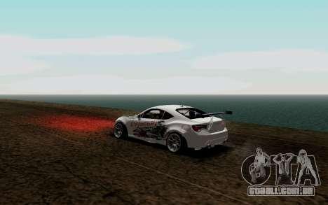 Subaru BRZ VCDT para GTA San Andreas traseira esquerda vista