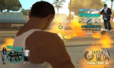 C-HUD Aztec El Corona para GTA San Andreas quinto tela