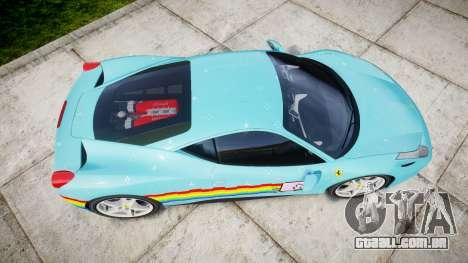 Ferrari 458 Italia 2010 v3.0 Purrari para GTA 4 vista direita