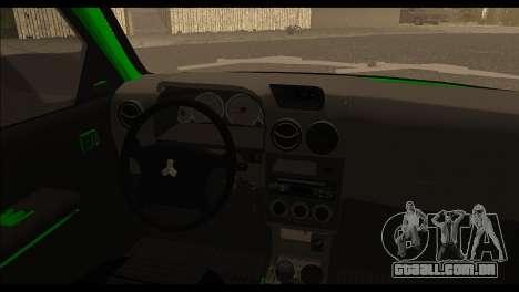 Kia Pride 141 para GTA San Andreas traseira esquerda vista