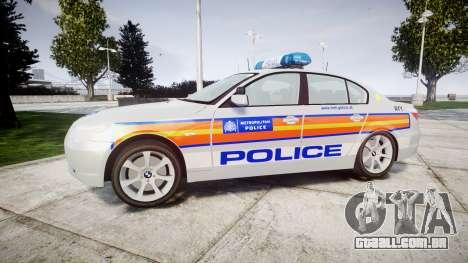 BMW 525d E60 2009 Police [ELS] para GTA 4 esquerda vista