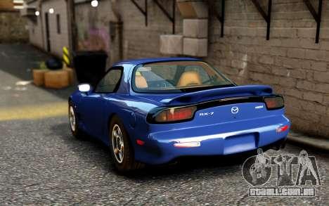 Mazda RX-7 1997 FD3s [EPM] para GTA 4 traseira esquerda vista