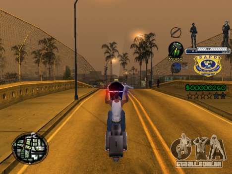 C-HUD Police S.A.P.D para GTA San Andreas quinto tela