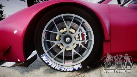 Ferrari 458 GT2 para GTA 4 vista de volta