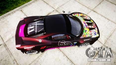 Ferrari 458 GT2 para GTA 4 vista direita