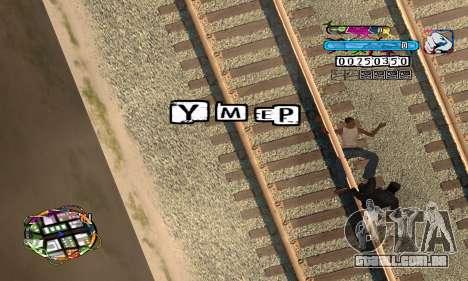 C-HUD Color para GTA San Andreas por diante tela