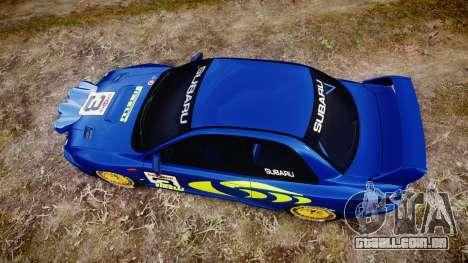 Subaru Impreza WRC 1998 v4.0 World Rally para GTA 4 vista direita
