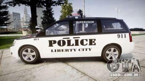 Dodge Grand Caravan LCPD [ELS] para GTA 4 esquerda vista