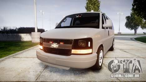 Chevrolet Express 2013 NYPD [ELS] unmarked para GTA 4