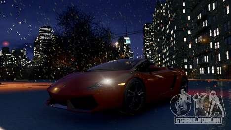 Snow IV para GTA 4 por diante tela