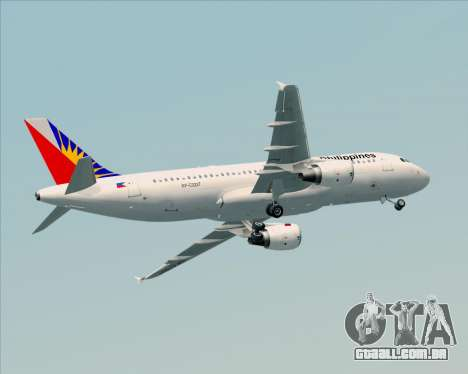 Airbus A320-200 Philippines Airlines para GTA San Andreas vista superior