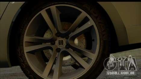 Seat Leon Fr 2013 para GTA San Andreas traseira esquerda vista