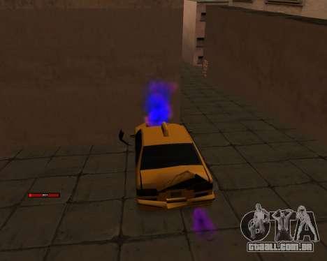 Indicador de HP carro para GTA San Andreas terceira tela