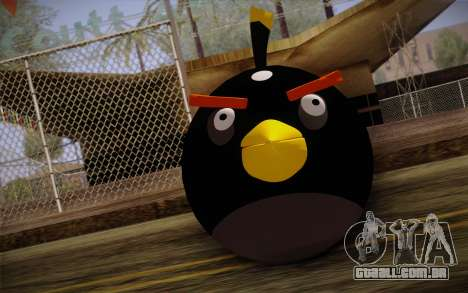Black Bird from Angry Birds para GTA San Andreas terceira tela