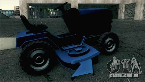 GTA V Mower para GTA San Andreas traseira esquerda vista