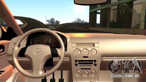Mazda 6 MPS para GTA San Andreas traseira esquerda vista