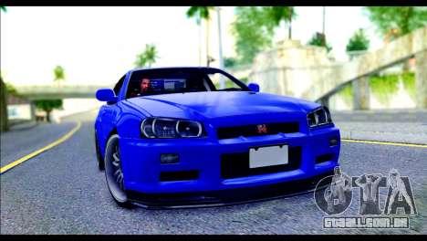 Nissan Skyline GTR R-34 from Fast and Furious 4 para GTA San Andreas