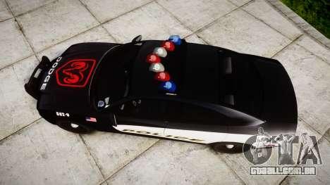Dodge Charger STR8 LCPD [ELS] para GTA 4 vista direita