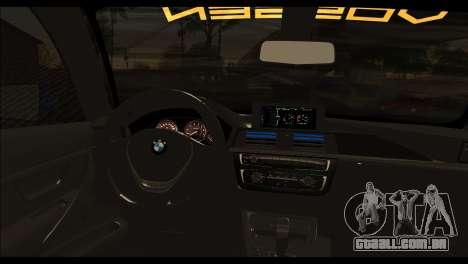 BMW M4 Stanced v2.0 para GTA San Andreas traseira esquerda vista
