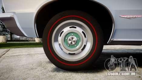 Pontiac GTO 1965 skull para GTA 4 vista de volta