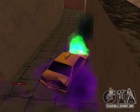 Indicador de HP carro para GTA San Andreas por diante tela