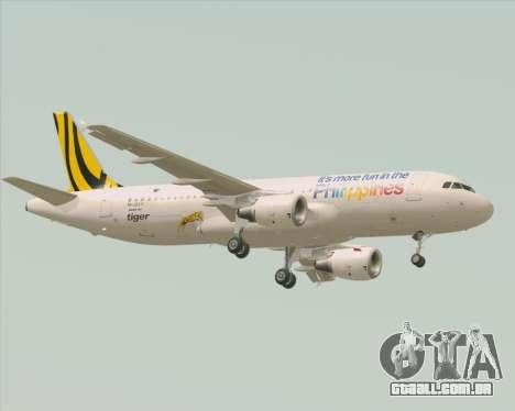 Airbus A320-200 Tigerair Philippines para GTA San Andreas vista traseira