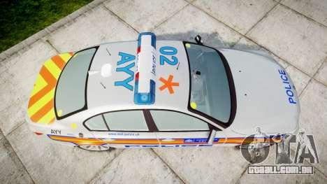 BMW 525d E60 2009 Police [ELS] para GTA 4 vista direita