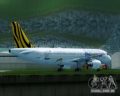 Airbus A320-200 Tigerair Philippines para GTA San Andreas vista direita