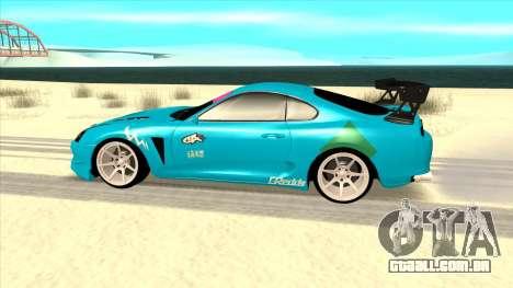 Toyota Supra Blue Lightning para GTA San Andreas esquerda vista