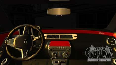 Chevrolet Camaro Police para GTA San Andreas traseira esquerda vista