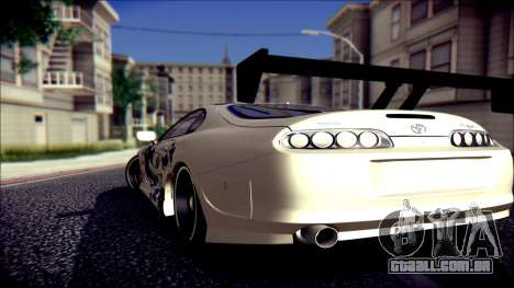Toyota Supra Street Edition para GTA San Andreas esquerda vista