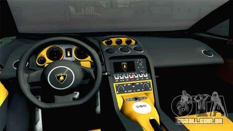 Lamborghini Gallardo 2005 para GTA San Andreas traseira esquerda vista