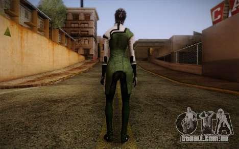 Liara T Soni Scientist Suit from Mass Effect para GTA San Andreas segunda tela