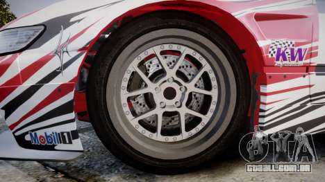 Nissan 240SX S13 D. Yoshihara HD para GTA 4 vista de volta