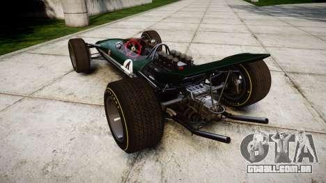 Lotus Type 49 1967 [RIV] PJ3-4 para GTA 4 traseira esquerda vista