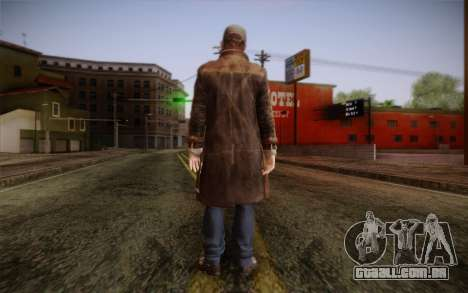 Aiden Pearce from Watch Dogs v5 para GTA San Andreas segunda tela