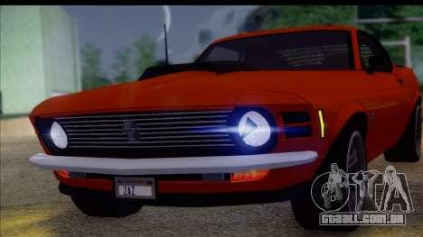 Ford Mustang Boss 429 1970 para GTA San Andreas traseira esquerda vista