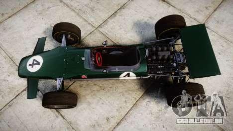 Lotus Type 49 1967 [RIV] PJ3-4 para GTA 4 vista direita