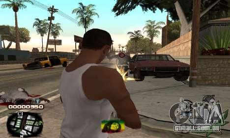C-HUD Rasta para GTA San Andreas terceira tela