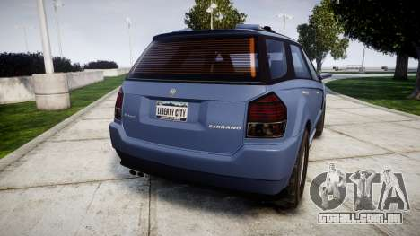 GTA V Benefactor Serrano 4x4 para GTA 4 traseira esquerda vista