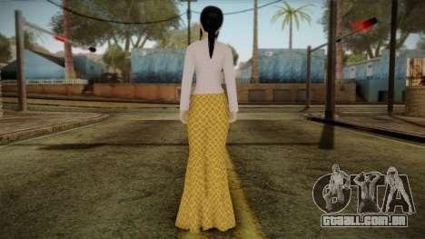 Kebaya Girl Skin v1 para GTA San Andreas segunda tela